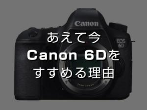 【Canon】写真を本格的に始めたい人にあえて今、キヤノンEOS 6Dをおすすめする理由