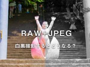 【モノクロ写真】カメラの保存形式をRAW+JPEGで白黒撮影するとどうなる?【撮影方法】