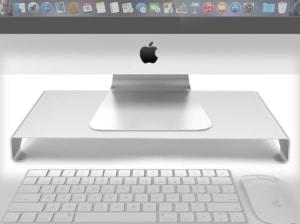 【パソコンラック】27インチのiMacのデスクにモニター台を置いてみた