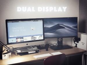【快適なデュアルディスプレイ】iMacのサブディスプレイとしてBenQのカラーマネージメントモニターを設置