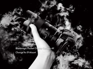 【M4/3カメラで使える】BMPCC4KにEFマウントのCANONレンズを使える様にするアダプター【レビュー】