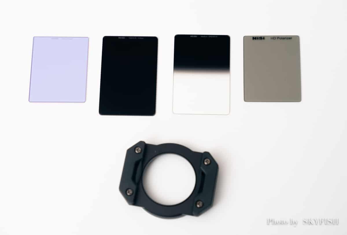 X100V用NiSiの角形レンズフィルター